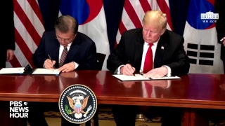 WATCH: President Trump expected to sign free trade agreement between U.S. and South Korea