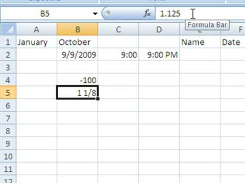 Basic Data Entry in Excel 2007