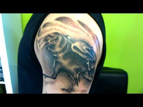 Crow tattoo by Echo