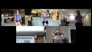 Boxing training on Zoom