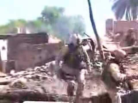 US & Iraqi Soldiers Battle Insurgents on Haifa Street, Baghdad.