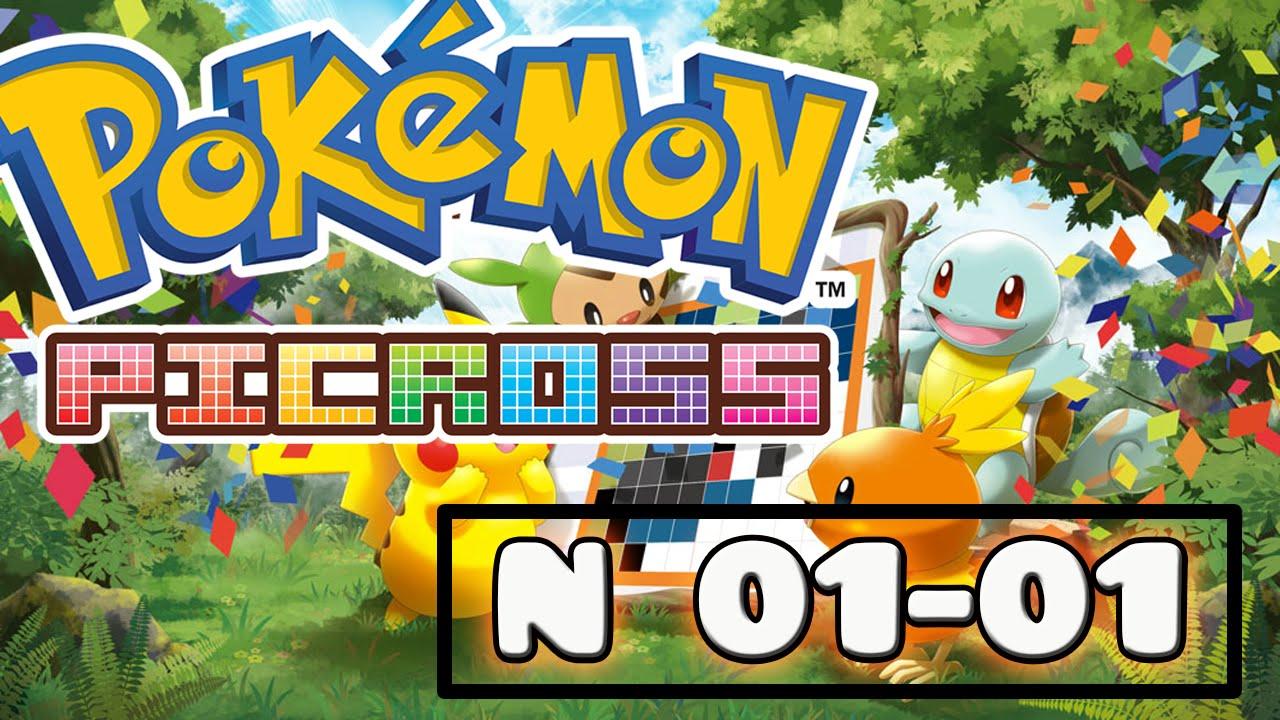 Let 39 s play pok mon picross 1 youtube for Mural 1 pokemon picross