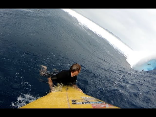 Monster Cloudbreak Swell from the Paddle Perspective