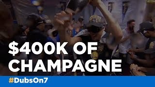 VIDEO: Warriors ball out with over $400K of champagne in celebration of NBA title