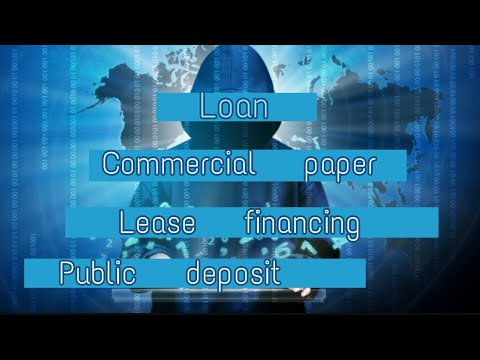(hindi) Loan, Commercial paper and lease financing | Class 11th | Sources of business finance.