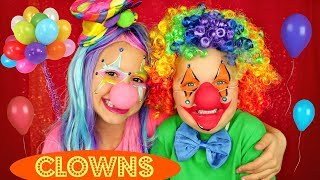 Clown Face Makeup Tutorial and Costumes For Halloween
