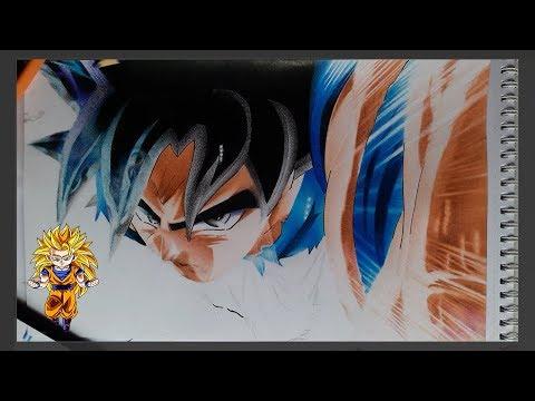 Como Pintar A Goku Ultra Instinto Paso A Paso Extremogoku Ultra