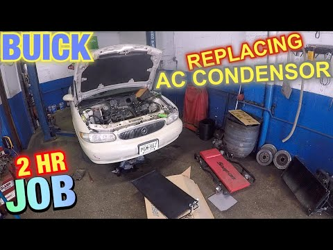 How to replace AC condenser on 2003 Buick  Remove radiator and ran to change AC condenser