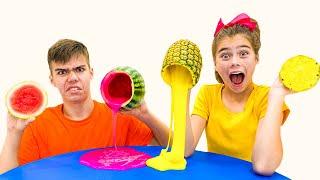 Nastya e Artem fizeram uma nova competição divertida para crianças
