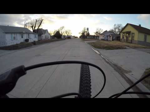 Mountain bike wheelie Dighton KS