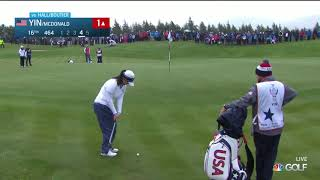 Georgia Hall and Celine Boutier win Day Two Four-ball Match at the 2019 Solheim Cup