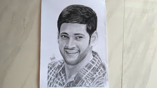 Mahesh Babu drawing pencil sketch