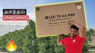 MiTv 4A Pro (49 inch ) Unboxing & Hands-On Review (Android Tv w/ Setup) | Tamil Tech