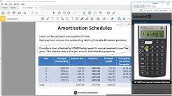 Financial Calculator - HP10B II Plus Loan Amortization