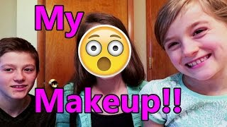 Exact Instructions Challenge | Little Sister Does my Makeup