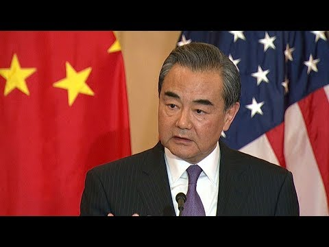 China's Wang Yi meets US Secretary of State Pompeo in Washington