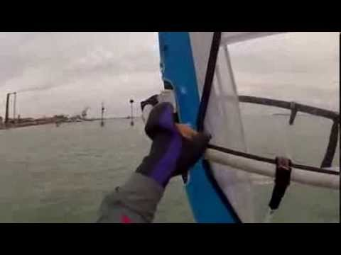 Windsurf Free Slalom Riding Alex Ravagnan.L.W.C.VE.Mattino 4.3.2014 GOPRO2 1832@