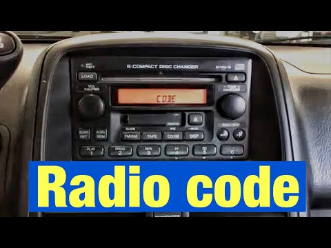 How to Find and Reset the Radio Antitheft Code on your Honda