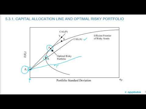 describe and interpret the minimum-variance and efficient frontiers of risky assets and..