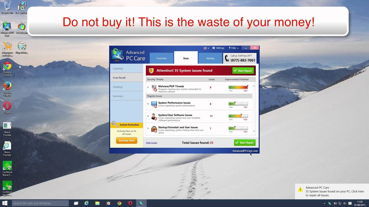 Advanced PC Care virus removal video - YouTube