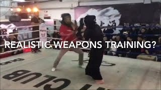 Kendo vs Arnis: weapons sparring is NOT realistic