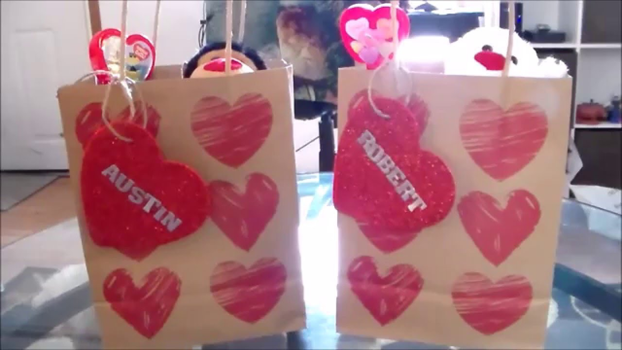 Valentine S Day Gift Idea Treat Bags Youtube
