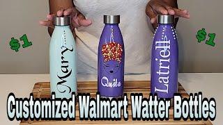 $1.00 Custom Water Bottles/Tumblers (Spray Paint & Bling)