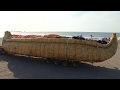 Barco de caña aymara está listo para un viaje transpacífico
