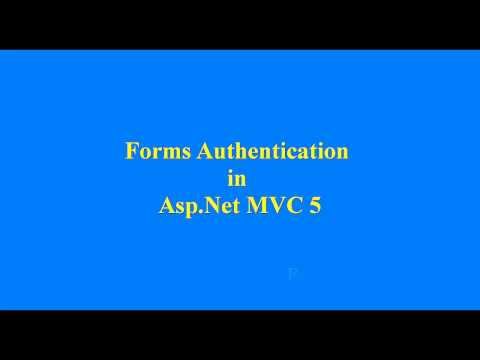 Forms Authentication in Asp.Net MVC 5