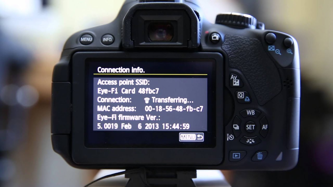Canon T4i With Eye Fi Card Direct Mode Youtube