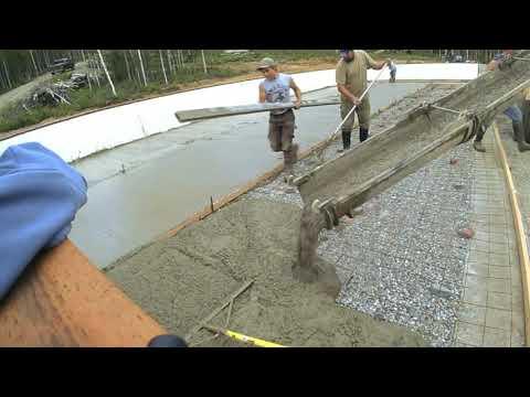 Giant Concrete Slab Pour