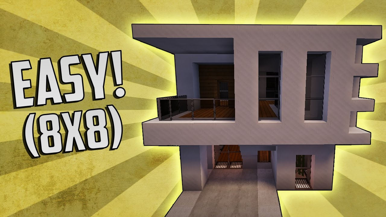 Minecraft how to build a small modern house tutorial for How to build a house cheap and fast
