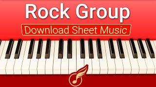 [Ноты фортепиано] для начинающих Rock Group | Музыкальная Академия Глория