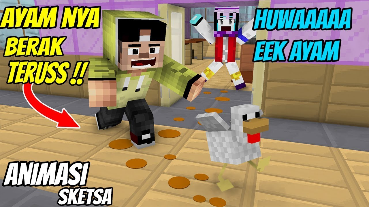 Download Lucu! Erpan Bawa Ayam Ke Sekolah ( Animasi Minecraft Indonesia )