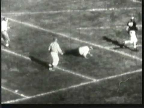 Tom Harmon TD run against Cal fan - 1940