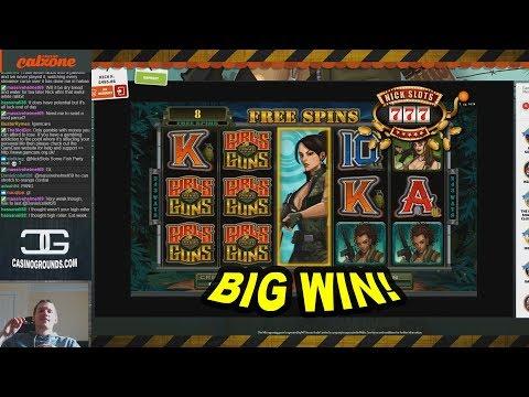 BIG WIN on Girls with Guns Slot - £4.80 Bet