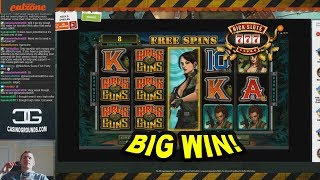 BIG WIN on Girls with Guns Slot - £4.80 Bet