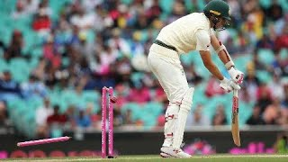 All Australia's first-innings wickets
