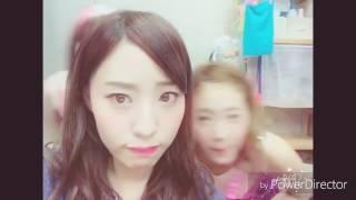 NMB 48森田彩花と武井紗良が後ろで動画に踊ってる最後でも何故に笑って...