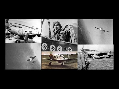 8th Air Force Fighter Pilots & their P-51s in action in HD - 1945