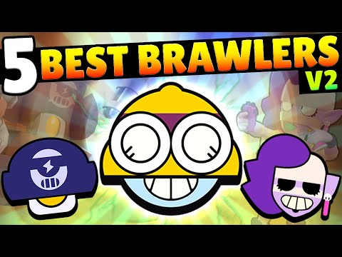 UPDATED! TOP 5 BEST BRAWLERS IN BRAWL STARS!! ONLY ONE LEGENDARY!?