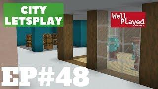 Minecraft UnderGround Mall! City Letsplay Ep48