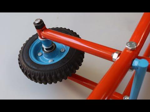 Make A Simplest Wheelbarrow   Homemade Folding Wheelbarrow
