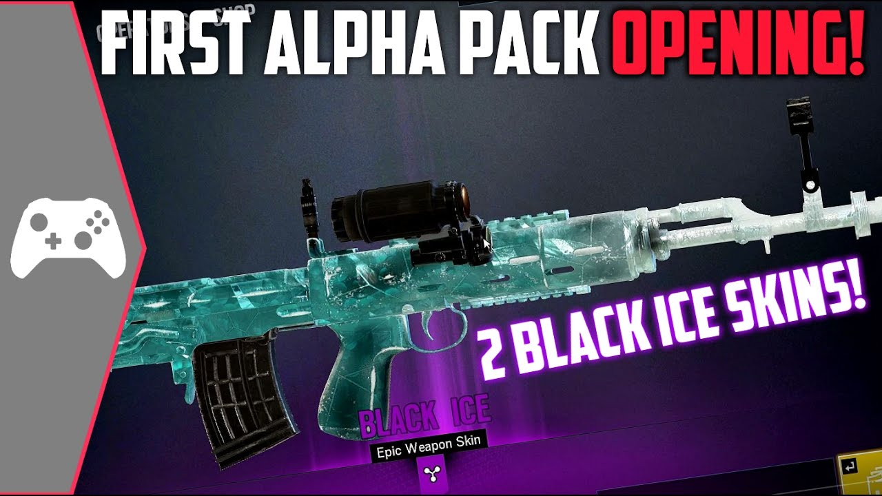 Black Ice Skin Rainbow Six Siege: Luckiest First Alpha Pack Opening!