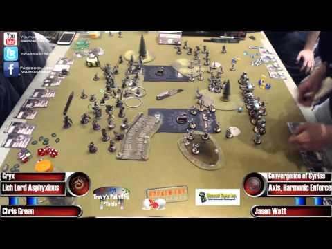 Adepticon 2016 Masters Finals: Chris Green (Cryx) vs Jason Watt (Convergence)
