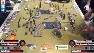 Adepticon 2016 Masters Finals: Chris Green (Cryx) vs Jason Watt (Convergence)