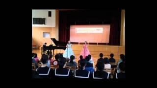 2015年11月12日実施分、第47回 山田華さん、麗さん出演「福島県川内町立川内小学校、川内中学校」