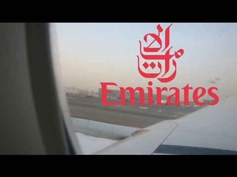 Emirates EK 368 Take-Off from Dubai to Jakarta DXB - CGK Economy Class