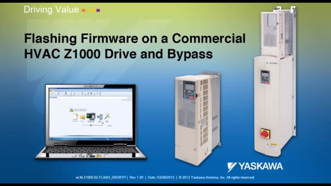 maxresdefault flashing firmware on a commercial hvac z1000 drive and bypass yaskawa z1000 wiring diagram at cos-gaming.co